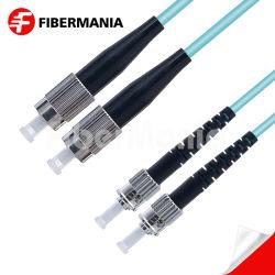 Commerce de gros FC-ST/UPC OM3 50/125 multimode en duplex OFNR 3.0mm câble de raccordement à fibre optique
