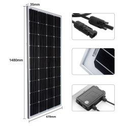 La Chine à haute efficacité 180W monocristallin Watts 18V 36cellules hors réseau du panneau solaire 12 Volt RV bateau, voiture électrique, 12V Système de la batterie