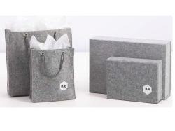Dickflüssiges Tuch-Deckel-LuxuxKlasseen-Geschenk-verpackenkasten-Luxuxtuch-Beutel-verpackenkasten