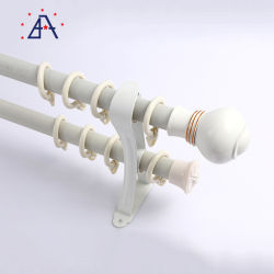 28mm 35mm tringle à rideau aluminium personnalisé de gros des tringles à rideaux et la voie à tige double rideau de la tige de rampe