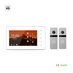 Ecrã táctil de segurança inicial da porta de vídeo de memória HD IPS de intercomunicação de Telefone