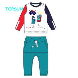 Jungen-Kinder druckten Baumwollfreizeit-Sport-Klage-Kind-lange Hülsen-Shirt-+ Hose-Sets für Baby-Kleidung