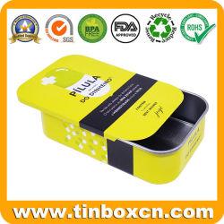 Прямоугольные металлические медицины упаковке таблетки слайд-Тин со сдвижной верхней части для монетного двора конфеты конфеты десен