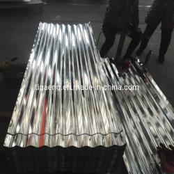 Banda decorativa DX51D zinco onduladas Gi onduladas galvanizada mosaico do deck do tejadilho