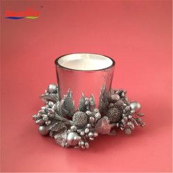 クリスマスの銀製のガラス瓶の奉納の蝋燭のギフト用の箱セット