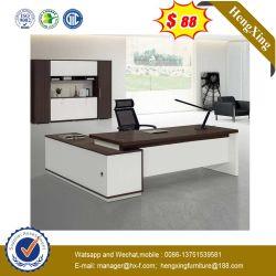Table en bois solide noir en verre haut Bureau exécutif du Bureau du directeur de l'acier (HX-RD6018)