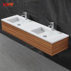 Kingkonree двойные раковины твердой поверхности прямоугольной ванной комнате бассейнов