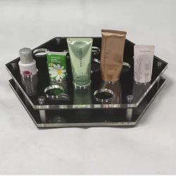 Expositor de productos cosméticos de acrílico de tamaño de impresión de logotipo personalizado