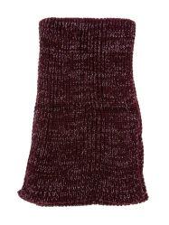 Senhoras' moda quente de Inverno Lenço Dentada Lurexy de malha