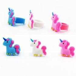 Kinder Silicon Sport Einhorn Bracelet Ring Silicone Horse Horn Rings für Children
