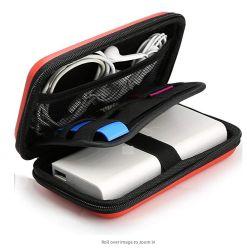 Ferramenta antichoque impermeável personalizado embalagem estojo de armazenamento EVA de viagens para banco de potência, Telemóvel, Cabo USB