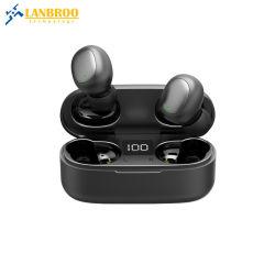 충전기 상자 Bluetooth V5.0 무선 Earbuds에 접촉 센서 통제 그리고 LCD 디스플레이를 가진 OEM/ODM 소형 Tws 이어폰