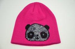 BSCI Fashion rose foncé filles tricoté en acrylique Beanie Hat d'hiver