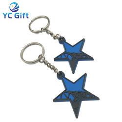 La Chine personnalisé de gros cadeau souvenir en plastique du disque de la sublimation de clés brutes de PVC Fashion Décoration clé promotionnel Finder avec Design Logo (KC-P60)