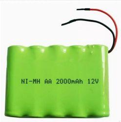 Recarregáveis AA de 1800mAh 12V Temperatura Alta Ni-MH / Industrial NiMH bateria cilíndrica