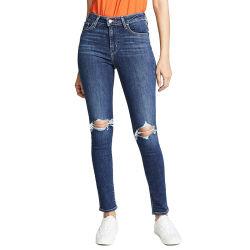 2019 Última moda de algodón poliéster azul denim Jeans damas