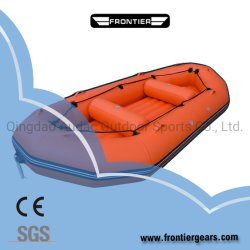 Borracha de Água Branca jangada inflável Barco com piso de manta de ar