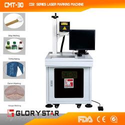 Leder beschriftet Laser-Markierungs-Maschine