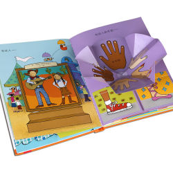 Fancy niños Empujar y tirar de la junta de la actividad educativa libro libro para niños