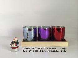 La máquina presiona Tealight portavelas de vidrio/bandeja de madera