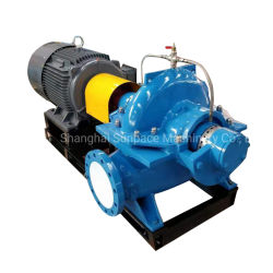 高性能の単段の二重吸引、遠心ポンプ、海水ポンプ、火ポンプは、軸方向にケースポンプを分割した