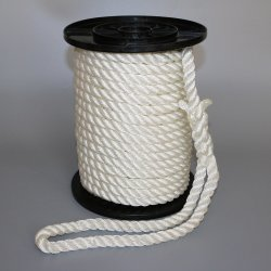 "1/2"" X 50' 3 hebras de nylon blanco de la línea de rigging de anclaje"