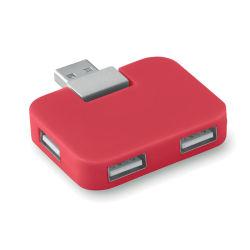 Hub USB de 4 portas portátil com o logotipo personalizado