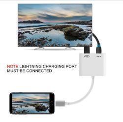 AppleのiPhone 6のためのHDMIのアダプターのデジタルAV TVのアダプターケーブルへのApple電光7 8プラスXのiPad