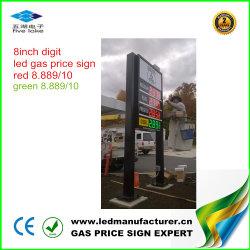 Étalages des prix de station-service de 8 pouces DEL (TT20F-3R-RED)