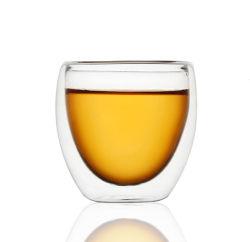 Doble pared pequeña whiskey cerveza clara de la copa de vidrio cristalería