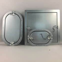 Plumbing il portello di accesso ovale con la serratura della camma
