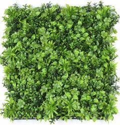 Anti-UV ignifuge résistant Fake feuillage feuille d'herbe jardin haie de toile de fond de l'écran de clôture de la vie privée vertical 3D usine artificiel vert Panneau mural