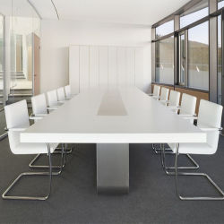 USA Corian blanc de conception de meubles de luxe Bureau Table de conférence Salle de réunion défini