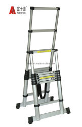 2,6M de haute qualité extensible en aluminium double utilisé pour l'étape de l'échelle Loft intérieur extérieur Bureau