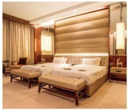 Mobilia di legno moderna di lusso su ordine dell'hotel per l'insieme di camera da letto con la doppia base (YB-809)
