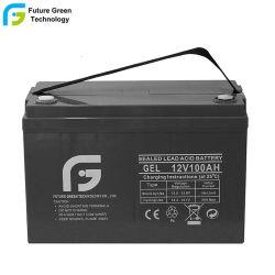12V 100Ah profundo Solar Cycel AGM baterías para uso industrial.
