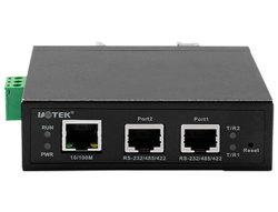 1つのポートRS-232 1ポートRS-485/422シリアル装置サーバーへの10/100m TCP/IP RJ45ポート