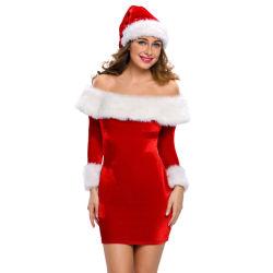 2018 Sexy ravissante robe de noël santa Sweetie Costume adulte
