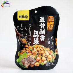 Support personnalisé jusqu'pochette à fermeture éclair sac de papier en plastique de l'emballage alimentaire