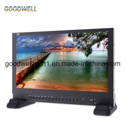"""IPS 4K UHD 3840X2160 4xhdmi 3G SDIのクォードの分割された表示放送17.3 """" TFT LCDのモニタ"""