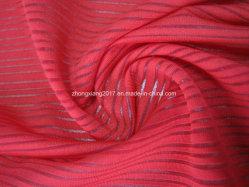Tecido de poliéster com listra Horizontal trama pano de tricotar