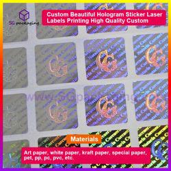 カスタム美しいホログラムのステッカーレーザーは印刷の高品質の習慣を分類する