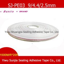 Cinta adhesiva impresa Sunjia auto, dos bandas laterales, plástico, bolsas de PE de cintas adhesivas de sellado de bolsas para prendas de vestir (9/3/5mm)