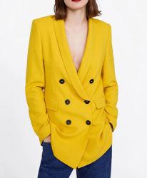 Moda fábrica señoras Business Blazer Chaqueta Mujer Plus Size Traje de chaqueta exterior de poliéster