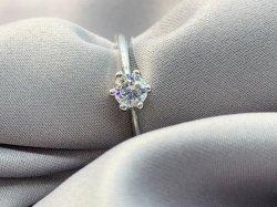 Solitaire Zircónio cúbico anéis de noivado autêntica 925 Sterling Silver Promessa Jóias de Anel O