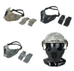 Módulo rápido de la máscara de malla Tactical media máscara montar casco