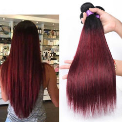 Бесплатная доставка бразильского прямой волны комплекты волос T1b/99j 10-20 дюйма 100% прав волосы вьются Реми волосы добавочный номер