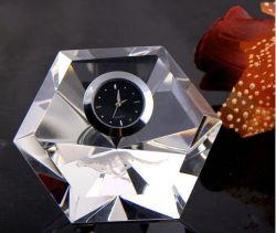 Décoration de table personnalisée de Crystal pour cadeau d'affaires de l'horloge