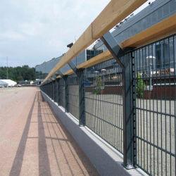 Double-Wire Mesh Fence, revêtus de PVC sur le fil 868 Clôture panneau double, lits jumeaux de couleur verte ou noire sur le fil double tige Le fil le grillage de séparation pour la vente