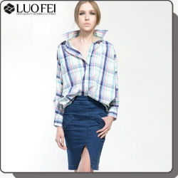 前部スリットが付いている真新しいデザイン女性のジーンズのスカート